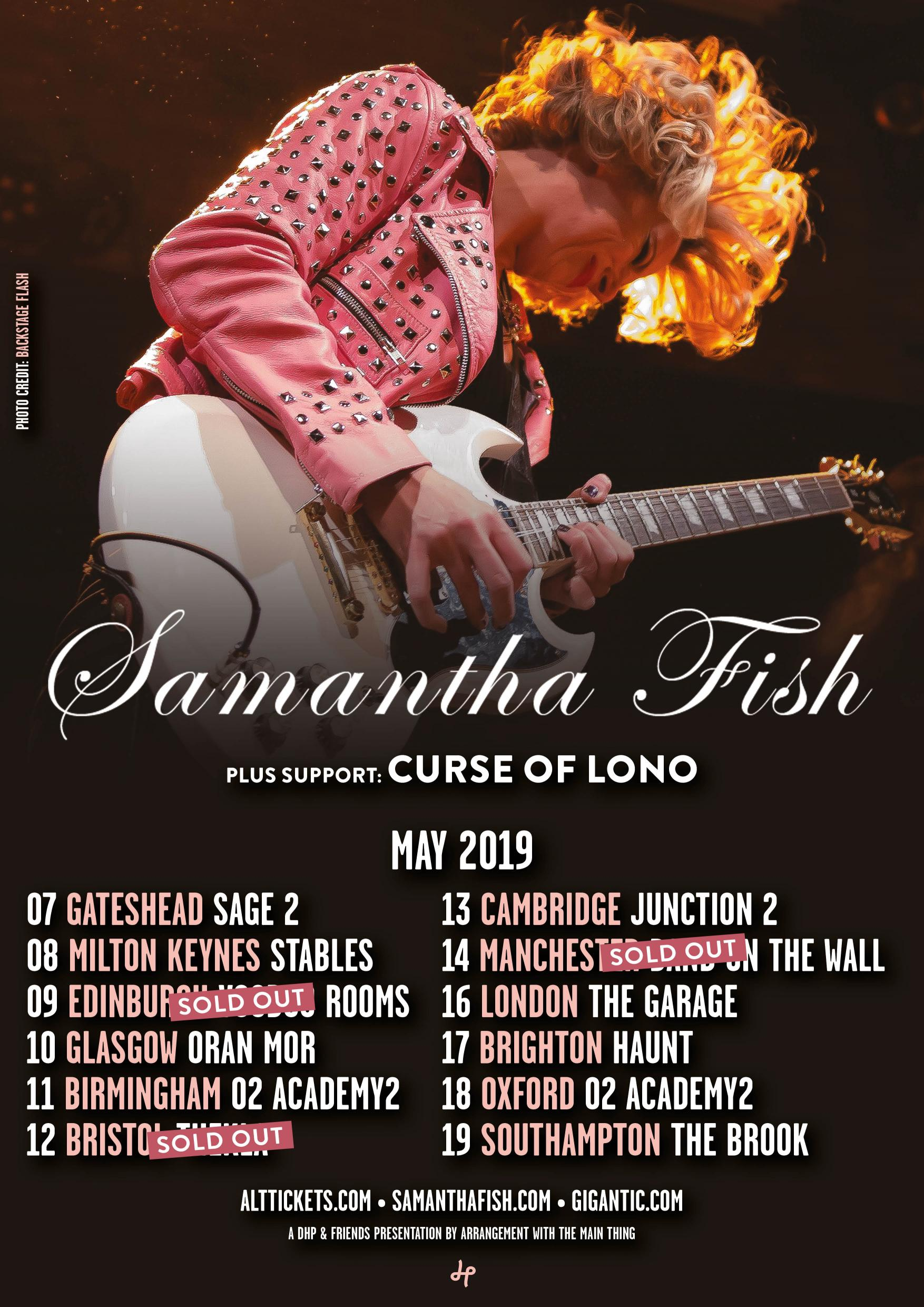 Samantha Fish to play in Glasgow on May 10th as Part of UK tour.